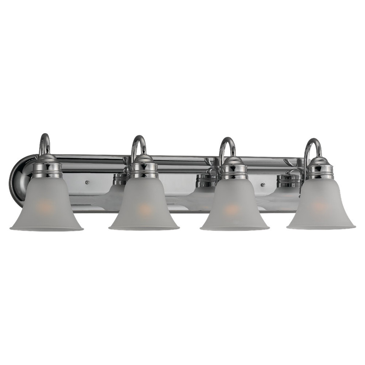 Sea Gull 49853BLE-05 Gladstone 4 Light 33 inch Chrome Bath Vanity Wall Light in Satin Etched Glass photo
