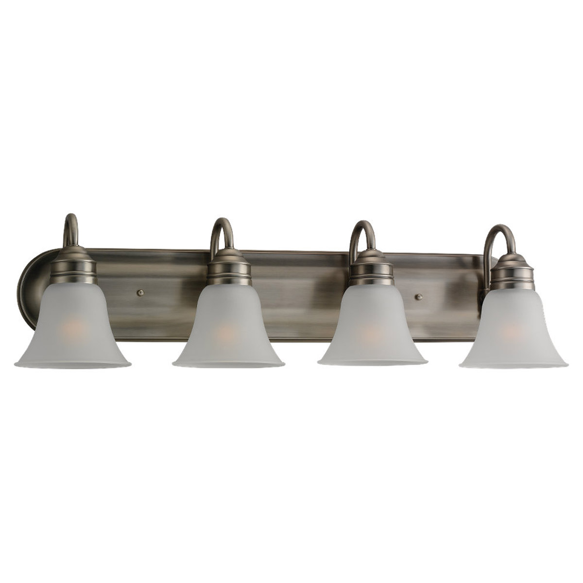 Sea Gull 49853BLE-965 Gladstone 4 Light 33 inch Antique Brushed Nickel Bath Vanity Wall Light in Satin Etched Glass photo