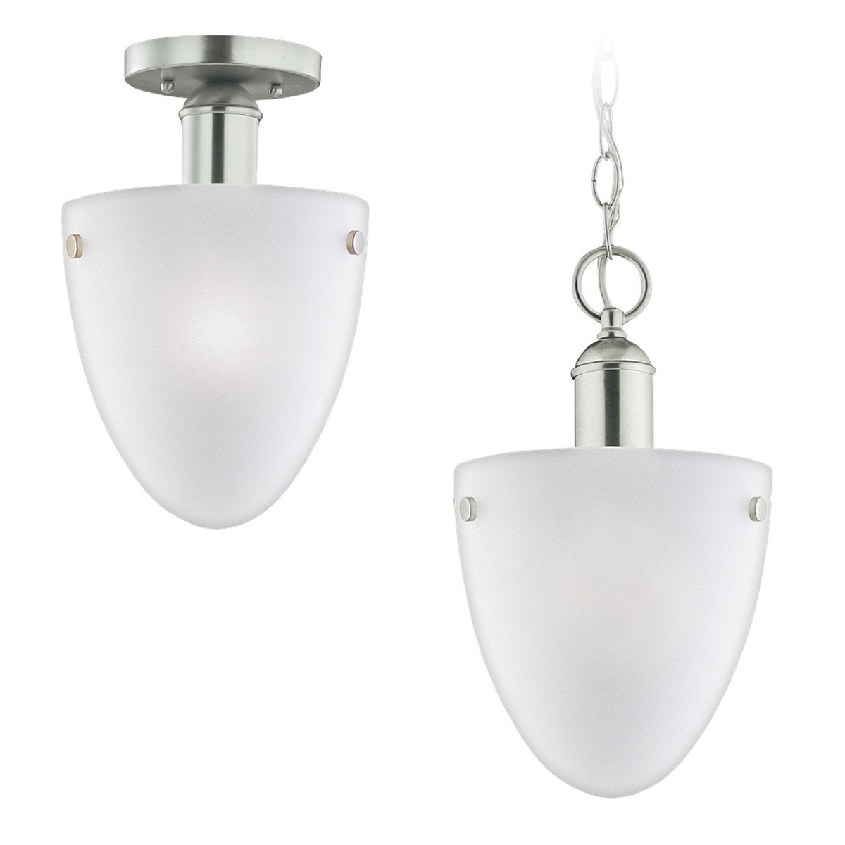 Sea Gull Lighting Metropolis 1 Light Pendant Convertible in Brushed Nickel 51035-962