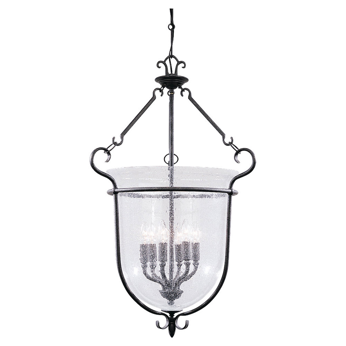 Sea Gull Lighting Manor House 6 Light Foyer Pendant in Weathered Iron 5104-07 photo