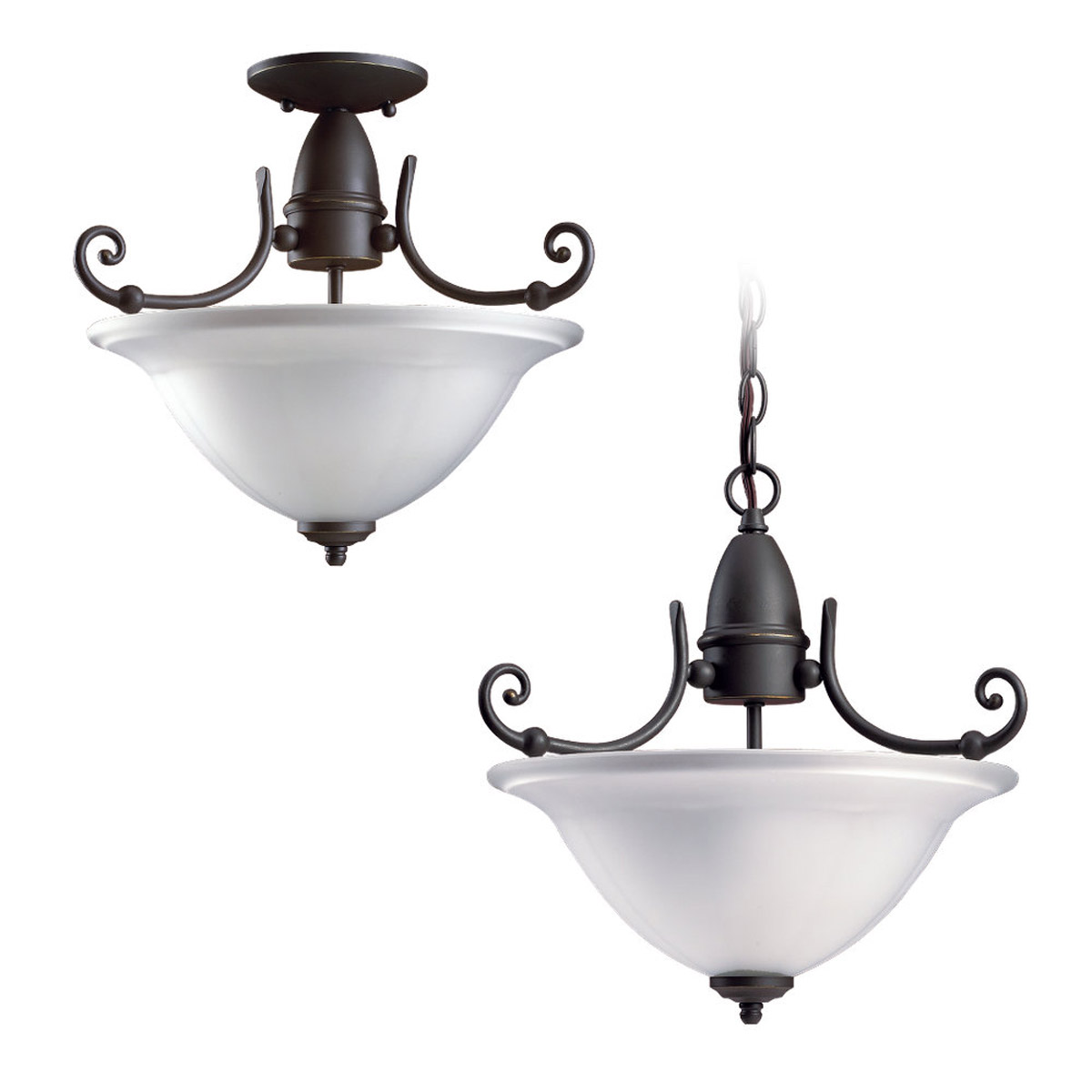 Sea Gull Lighting Canterbury 2 Light Pendant Convertible in Antique Bronze 51050-71 photo