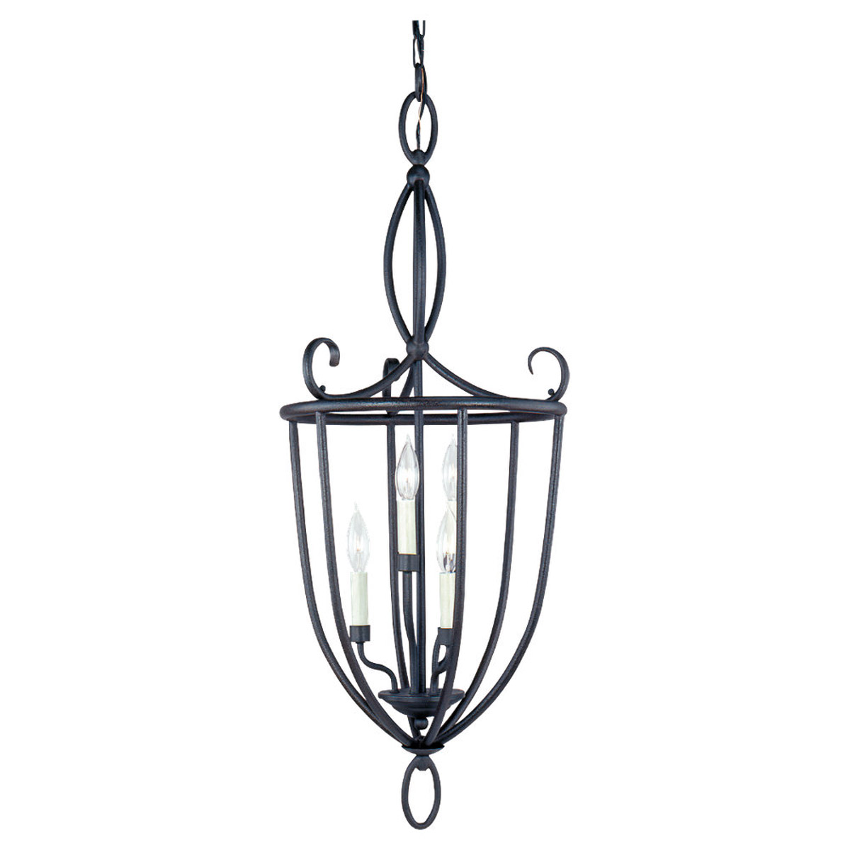 Sea Gull Lighting Pemberton 6 Light Foyer Pendant in Peppercorn 51075-799
