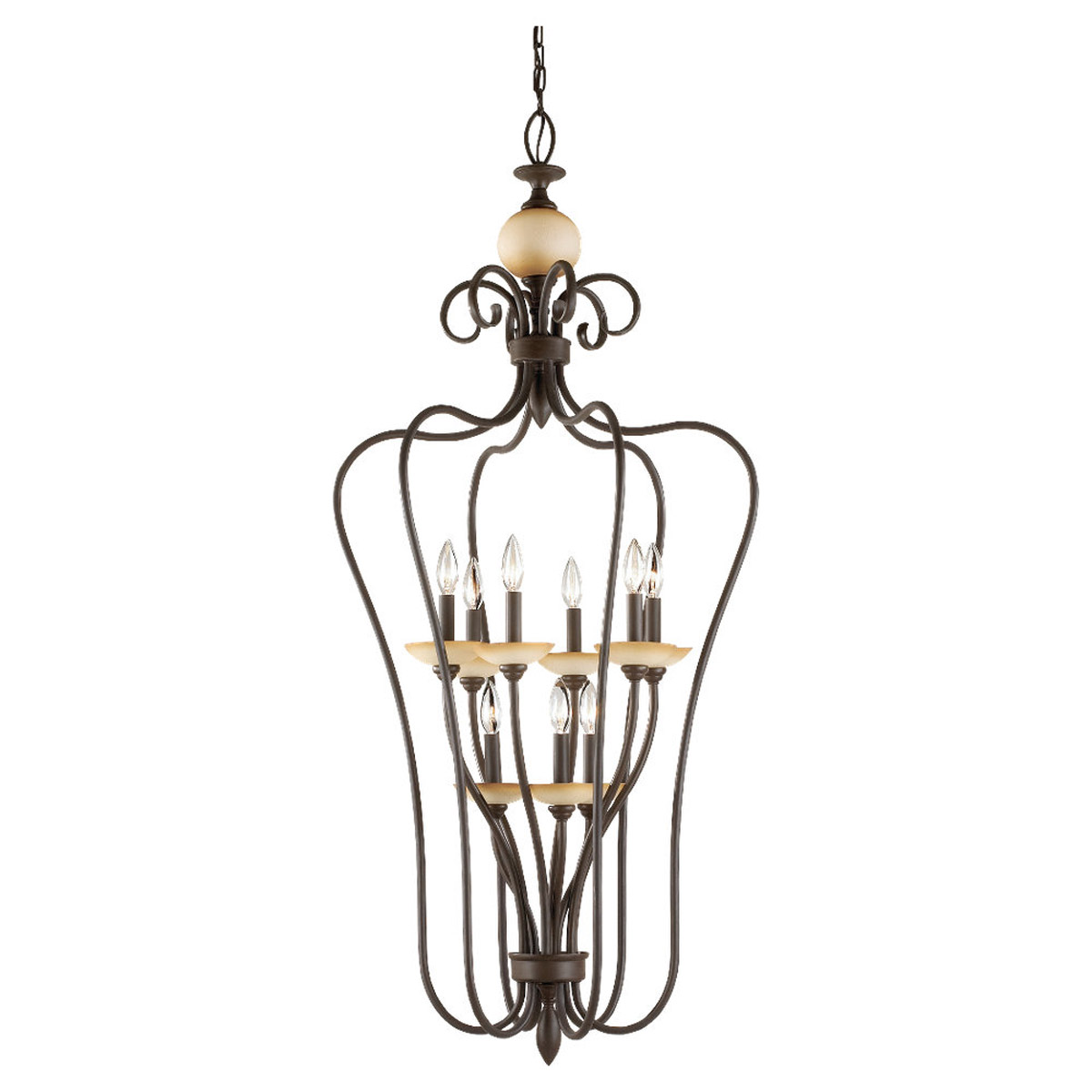 Sea Gull Lighting Montclaire 9 Light Foyer Pendant in Olde Iron 51107-72