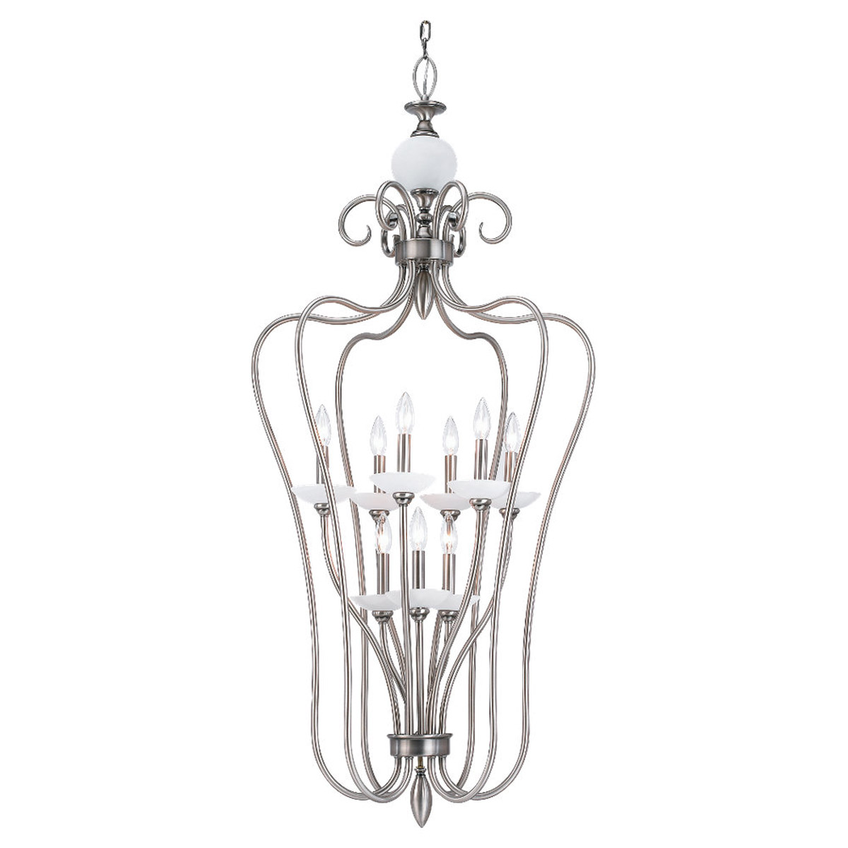 Sea Gull Lighting Montclaire 9 Light Foyer Pendant in Antique Brushed Nickel 51107-965