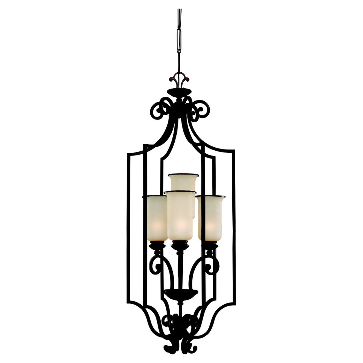 Sea Gull Lighting Acadia 4 Light Foyer Pendant in Misted Bronze 51146-814