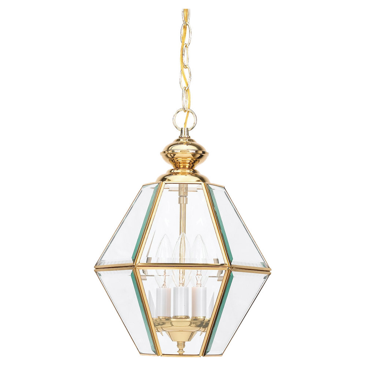 Sea Gull Lighting Grandover 3 Light Foyer Pendant in Polished Brass 5116-02