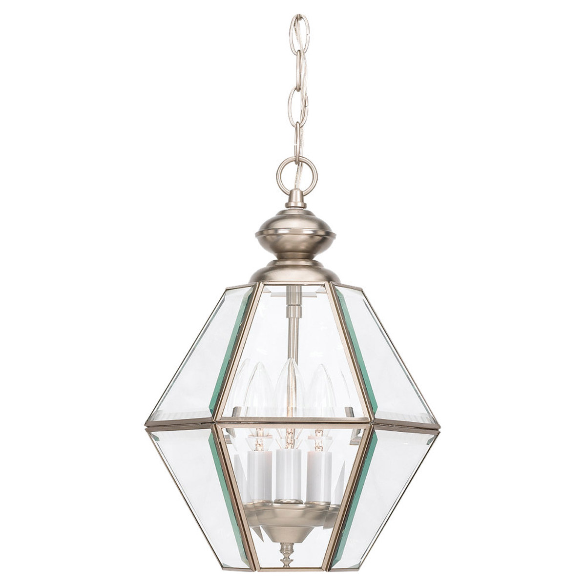 Sea Gull Lighting Grandover 3 Light Foyer Pendant in Brushed Nickel 5116-962