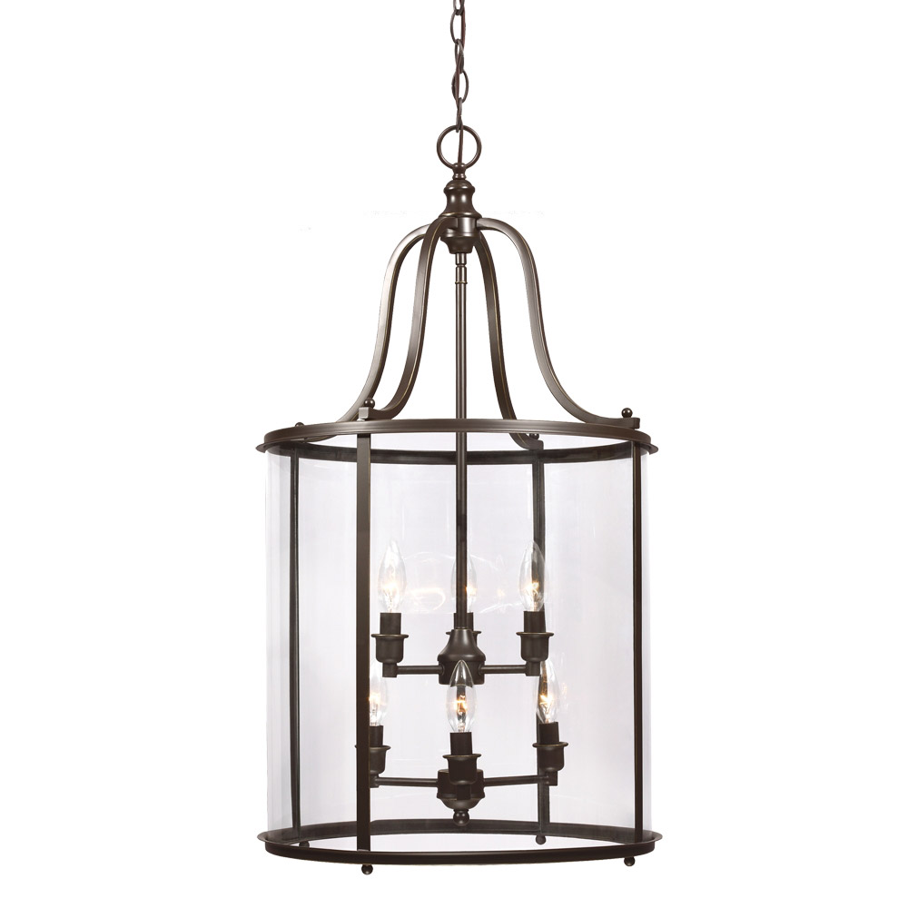 Sea Gull Gillmore 6 Light Hall/Foyer Pendant in Heirloom Bronze 5118406-782 photo