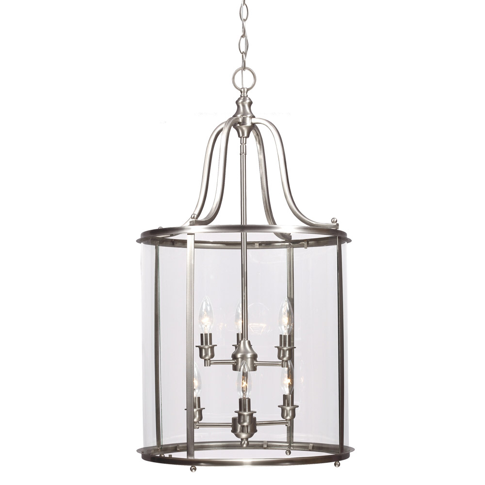 Sea Gull Gillmore 6 Light Hall/Foyer Pendant in Brushed Nickel 5118406-962 photo