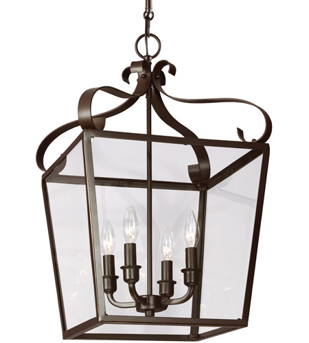 Sea Gull Lockheart 4 Light Hall/Foyer Pendant in Heirloom Bronze 5119404-782 photo