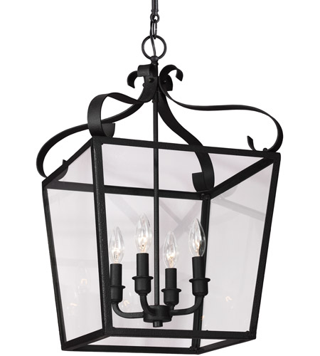 Sea Gull Lockheart 4 Light Hall/Foyer Pendant in Blacksmith 5119404-839