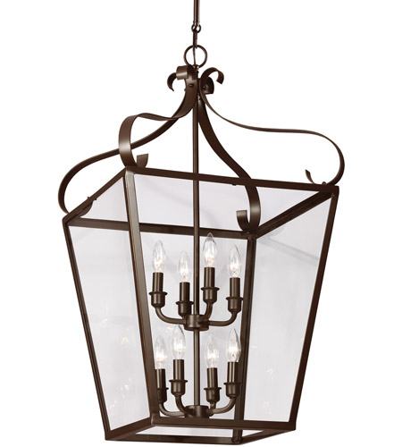 Sea Gull Lockheart 8 Light Hall/Foyer Pendant in Heirloom Bronze 5119408-782