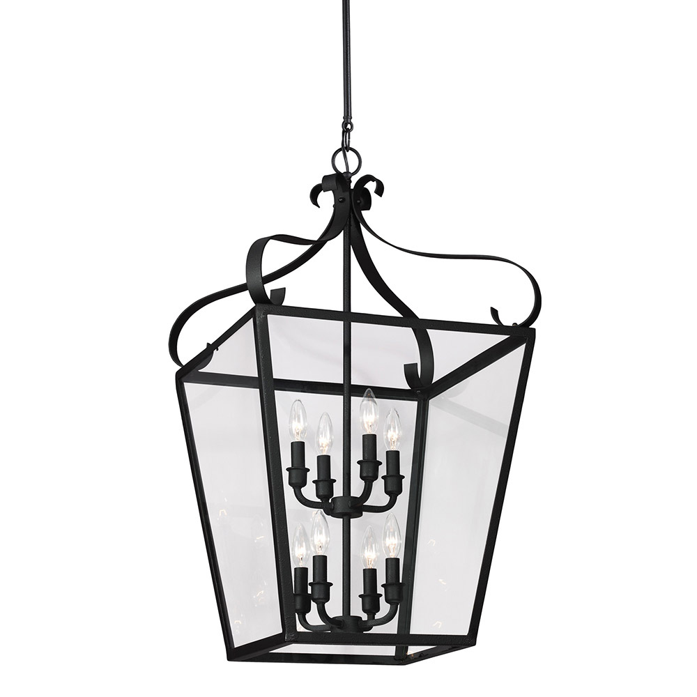 Sea Gull Lockheart 8 Light Hall/Foyer Pendant in Blacksmith 5119408-839