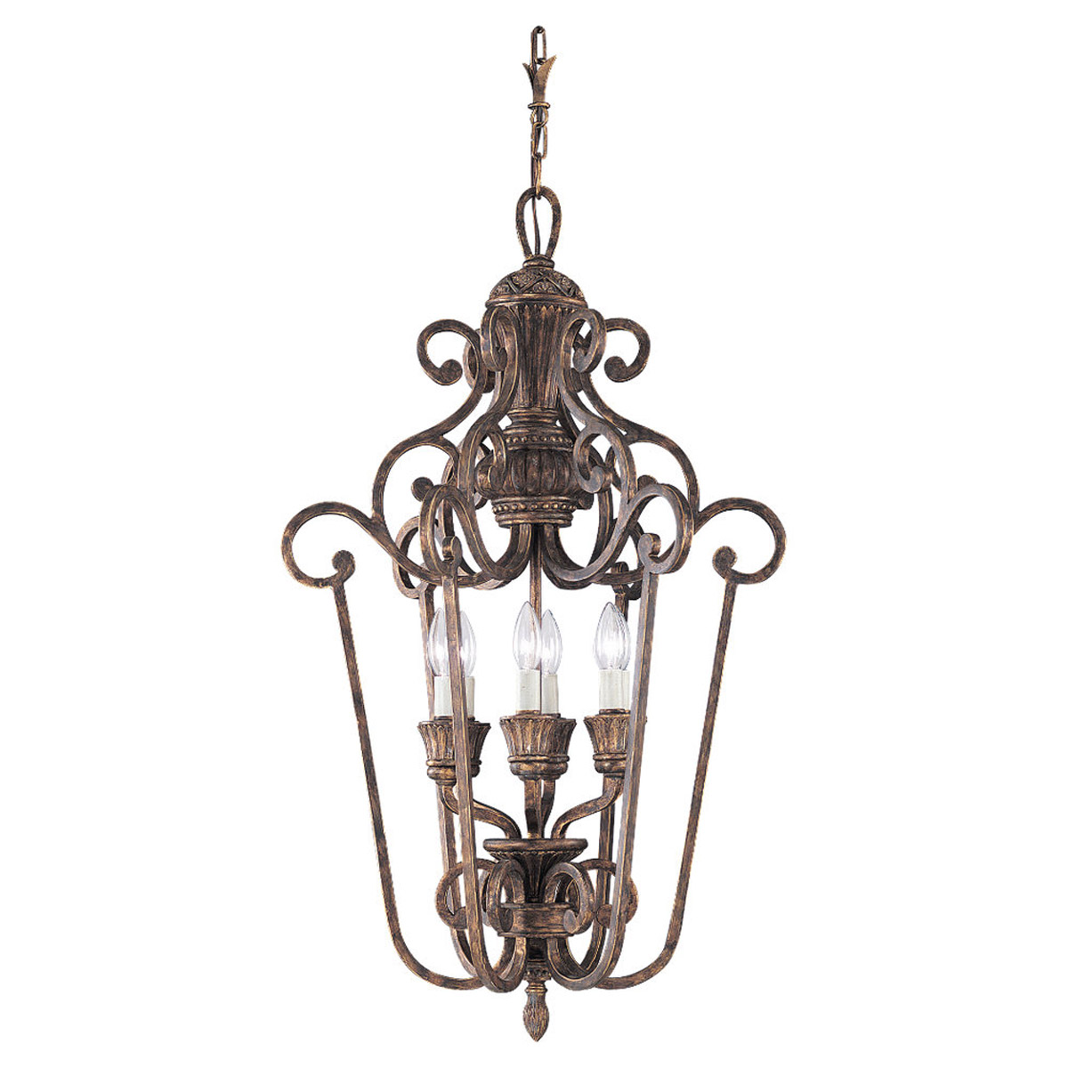 Sea Gull 51251-758 Highlands 6 Light 22 inch Regal Bronze Foyer Pendant Ceiling Light photo