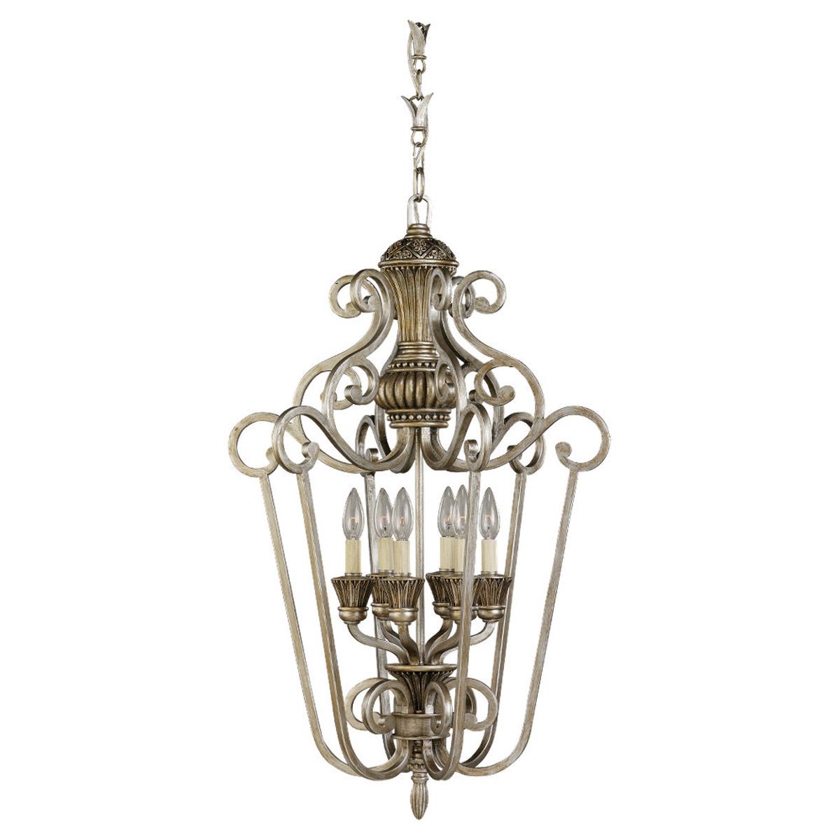 Sea Gull Lighting Highlands 6 Light Foyer Pendant in Palladium 51251-824