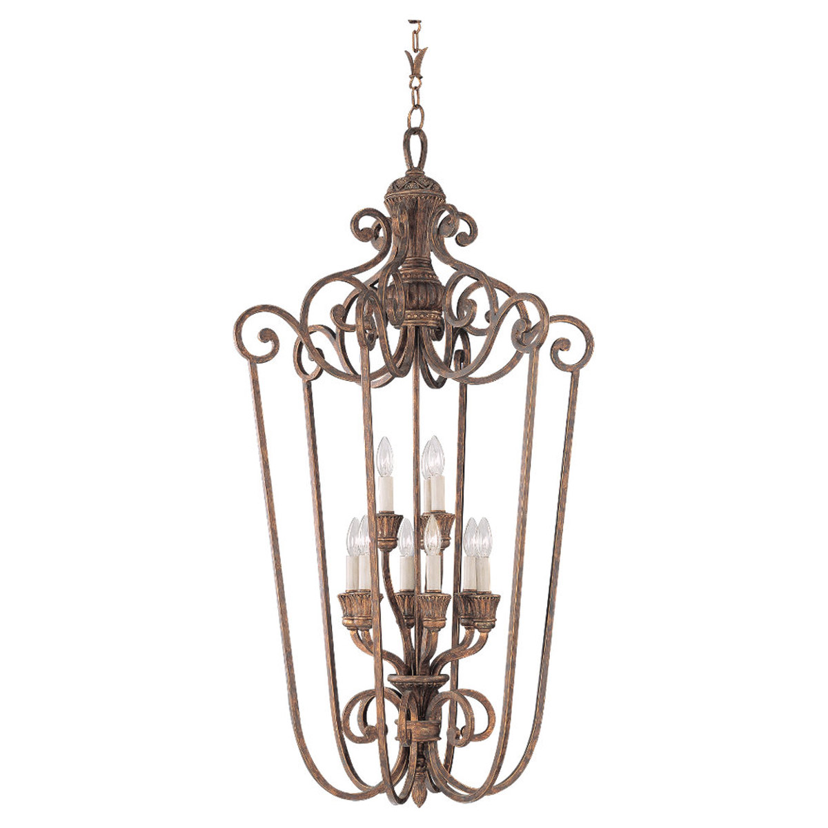 Sea Gull Lighting Highlands 9 Light Foyer Pendant in Regal Bronze 51257-758