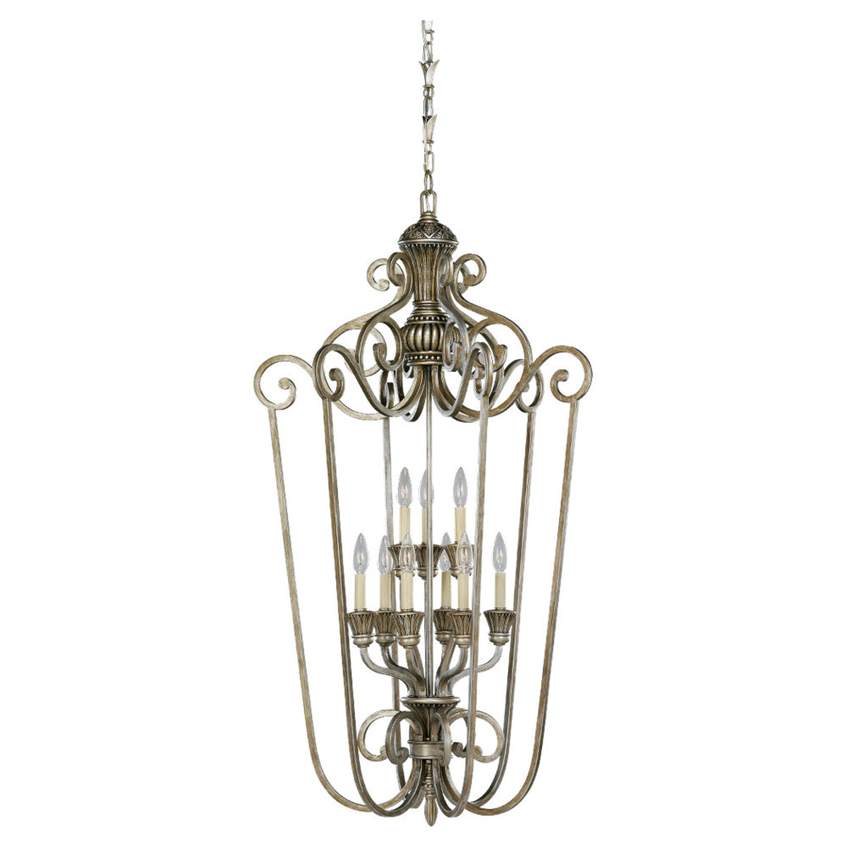 Sea Gull Lighting Highlands 9 Light Foyer Pendant in Palladium 51257-824
