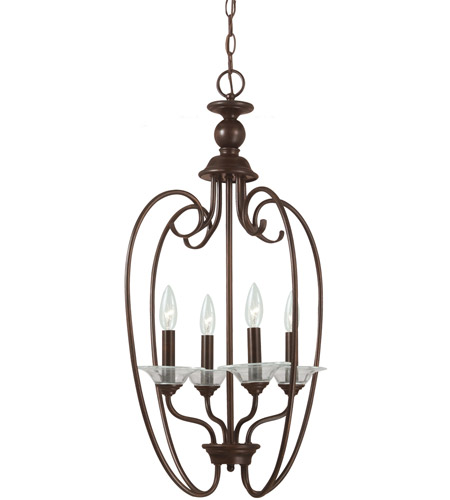 Sea Gull Lighting Lemont 4 Light Foyer Pendant in Burnt Sienna 51316-710