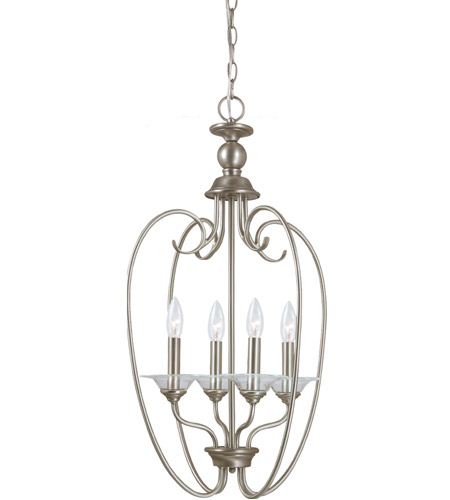 Sea Gull Lighting Lemont 4 Light Foyer Pendant in Antique Brushed Nickel 51316-965