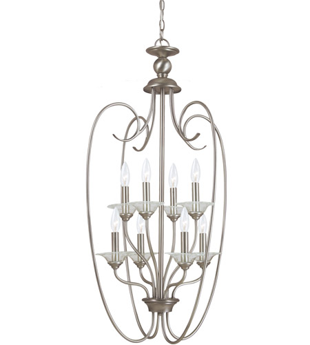 Sea Gull Lighting Lemont 8 Light Foyer Pendant in Antique Brushed Nickel 51317-965 photo
