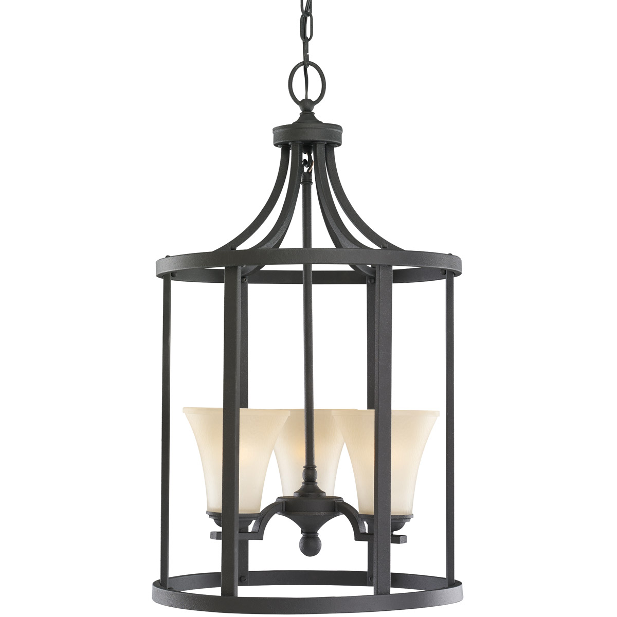 Sea Gull Lighting Somerton 3 Light Pendant in Blacksmith 51375-839 photo