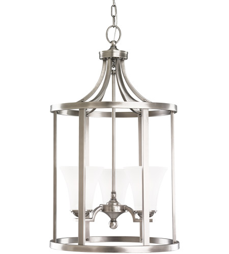 Sea Gull Lighting Somerton 3 Light Foyer Pendant in Antique Brushed Nickel 51375-965 photo