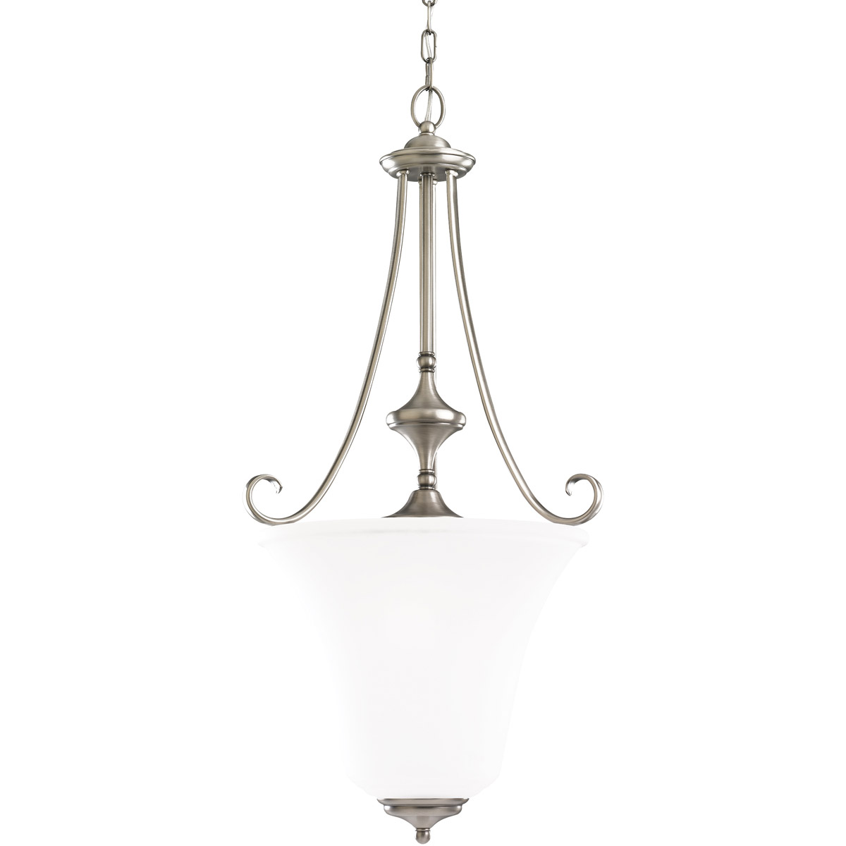 Sea Gull 51380-965 Parkview 3 Light 18 inch Antique Brushed Nickel Foyer Pendant Ceiling Light in Satin Etched Glass photo