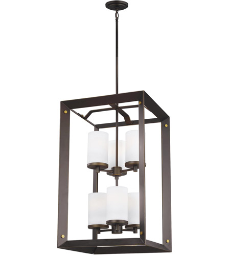 Antique Bronze Steel Chatauqua Foyer Pendants