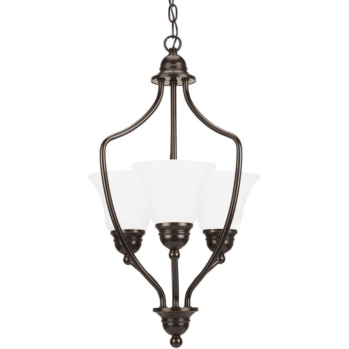 Sea Gull Lighting Signature 3 Light Foyer Pendant in Heirloom Bronze 51410-782
