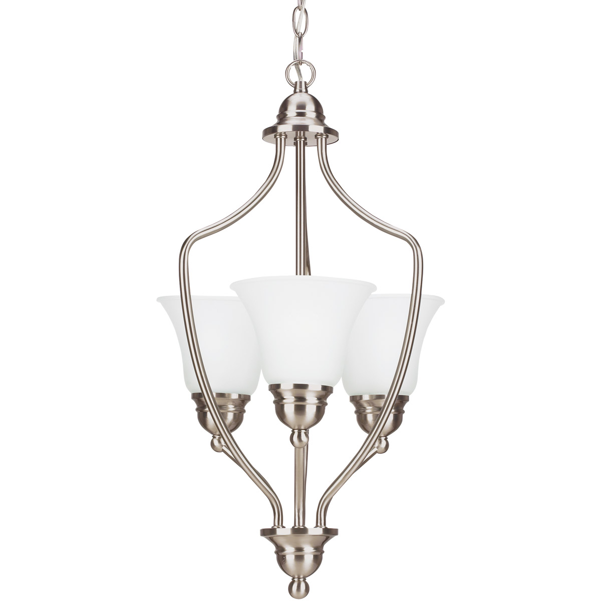 Sea Gull Lighting Signature 3 Light Foyer Pendant in Brushed Nickel 51410-962