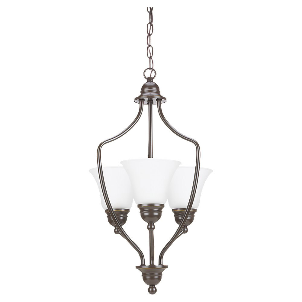 Sea Gull Lighting Signature 3 Light Foyer Pendant in Heirloom Bronze 51410BLE-782