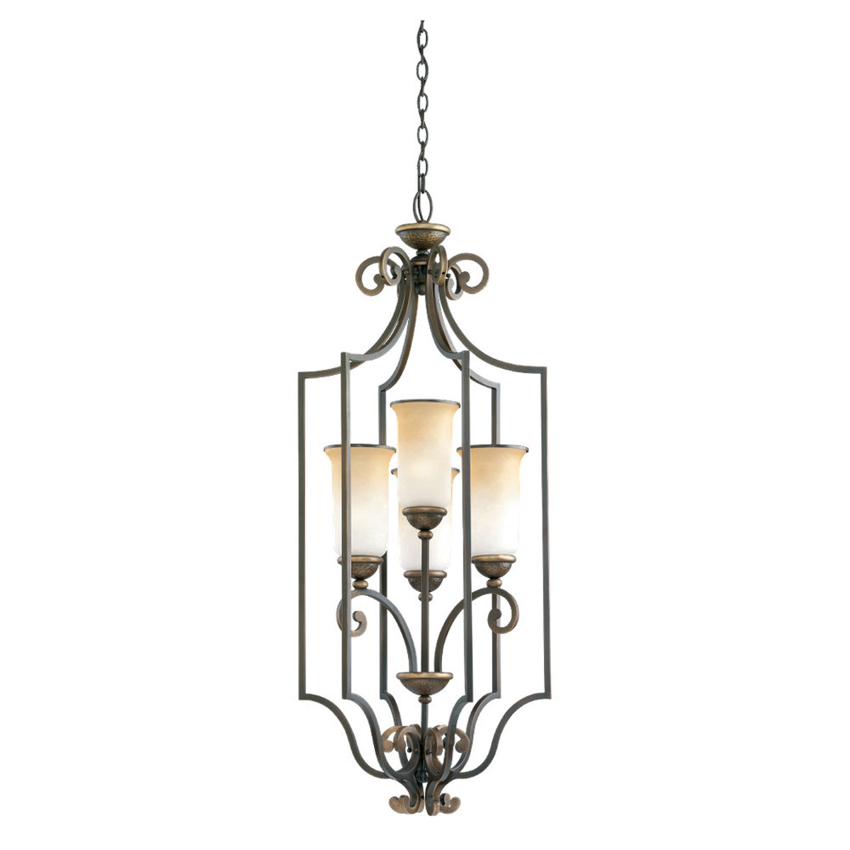 Sea Gull Lighting Brandywine 4 Light Hall / Foyer Pendant in Antique Bronze 51431-71