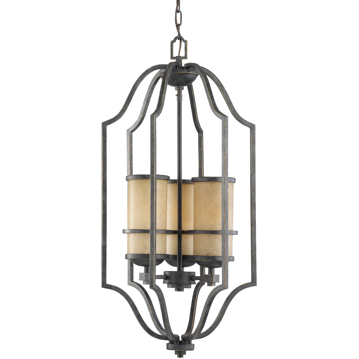 Sea Gull Lighting Roslyn 3 Light Foyer Pendant in Flemish Bronze 51521-845 photo