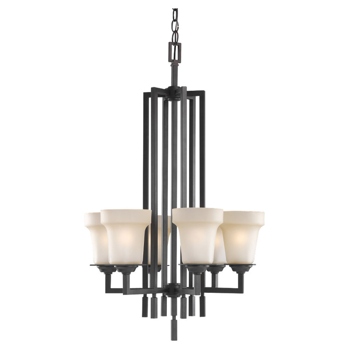 Sea Gull Lighting Cardwell 6 Light Hall / Foyer Pendant in Misted Bronze 51630-814 photo