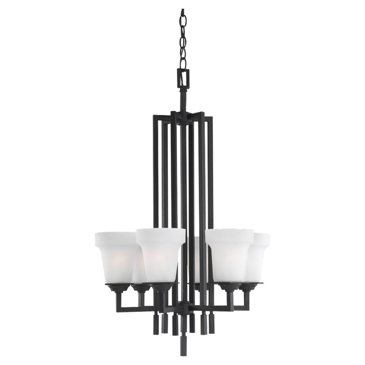Sea Gull Lighting Cardwell 6 Light Chandelier in Blacksmith 51630-839 photo