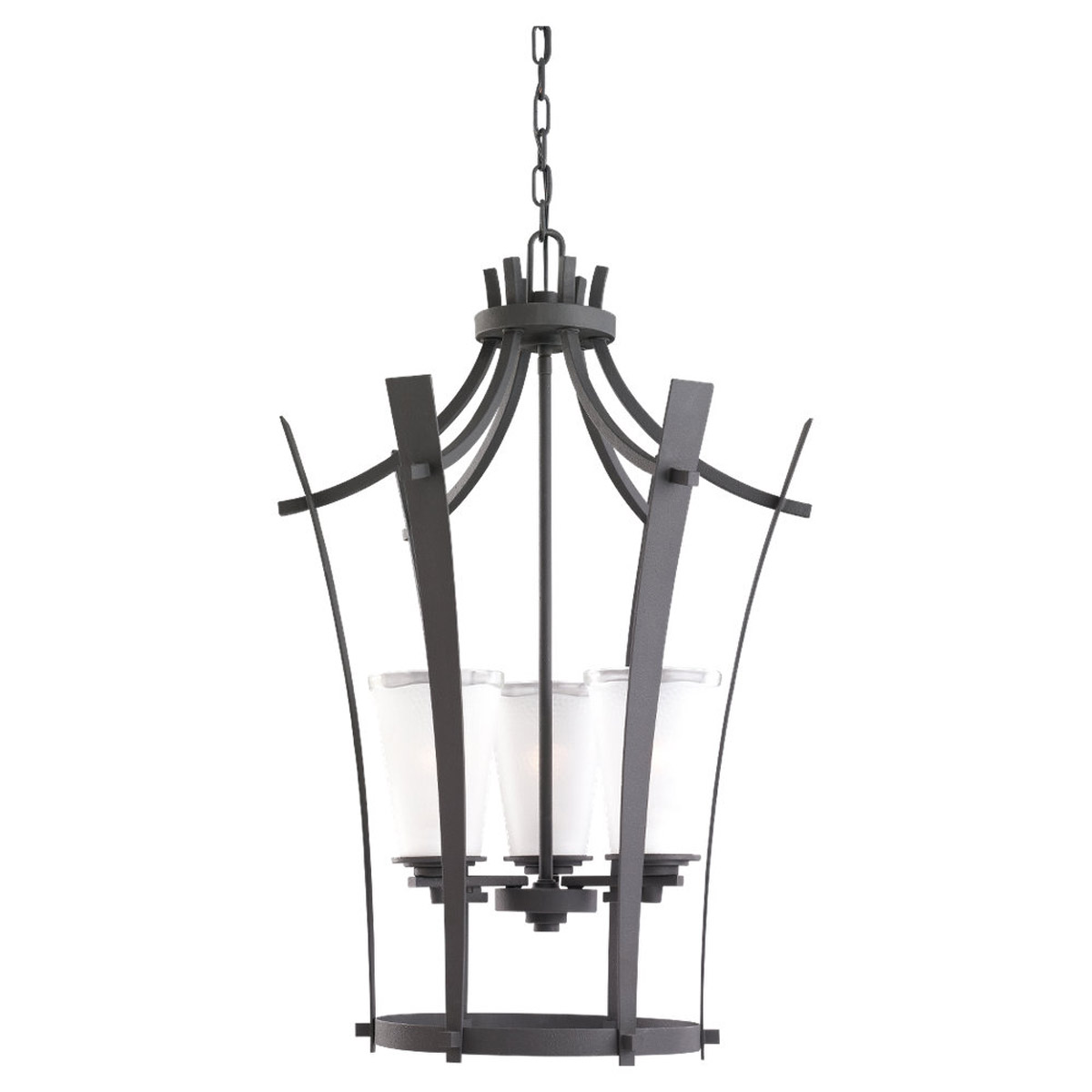 Sea Gull Lighting 59th Street 3 Light Hall / Foyer Pendant in Blacksmith 51640-839 photo