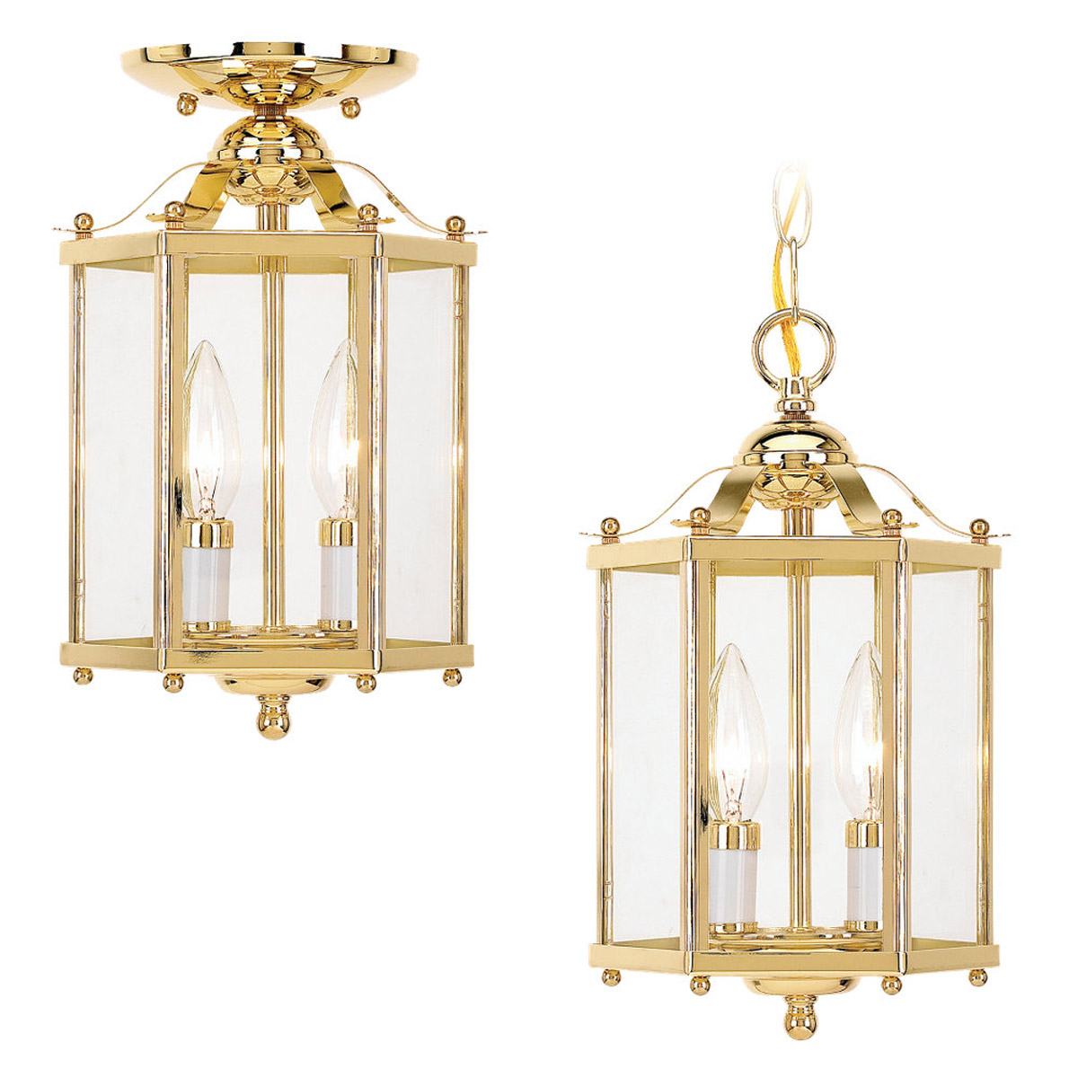 Sea Gull Lighting Bretton 2 Light Pendant Convertible in Polished Brass 5232-02 photo