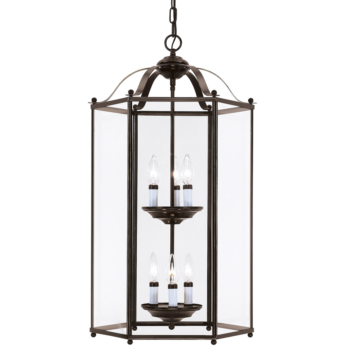 Sea Gull 5233-782 Bretton 6 Light 17 inch Heirloom Bronze Foyer Pendant Ceiling Light photo