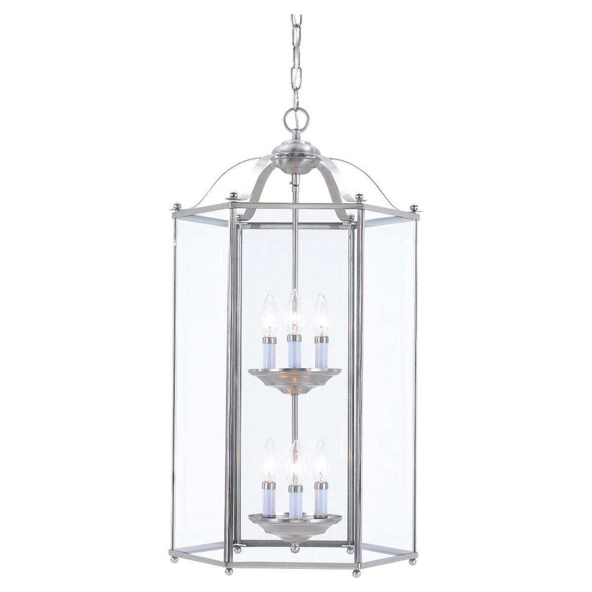 Sea Gull Lighting Bretton 6 Light Pendant in Brushed Nickel 5233-962