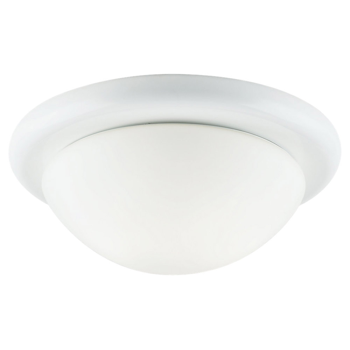 Sea Gull Lighting Twist-Lock Fitters 1 Light Flush Mount in White 53069-15 photo