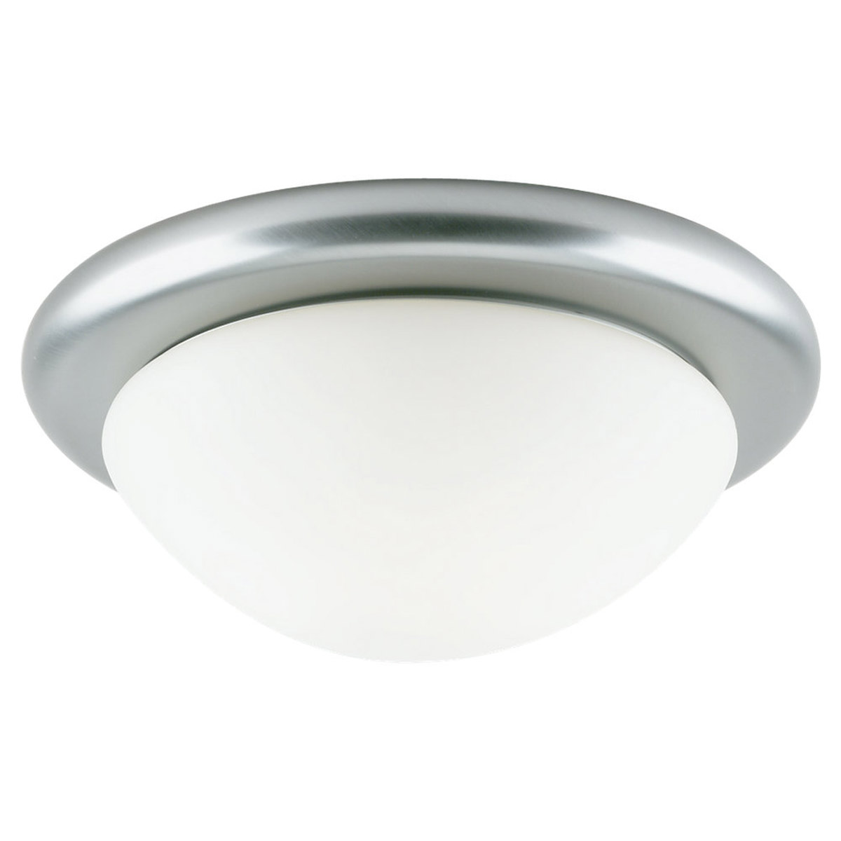 Sea Gull Lighting Twist-Lock Fitters 1 Light Flush Mount in Brushed Nickel 53069-962 photo