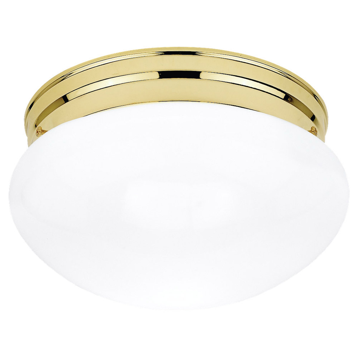 Sea Gull Lighting Webster 1 Light Flush Mount in Polished Brass 5326-02