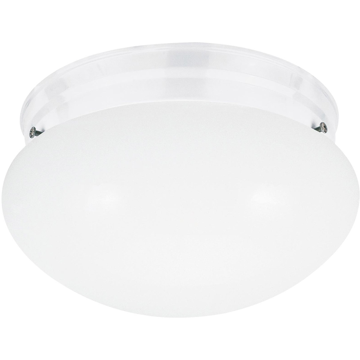 Sea Gull 5326-15 Webster 1 Light 8 inch White Flush Mount Ceiling Light photo