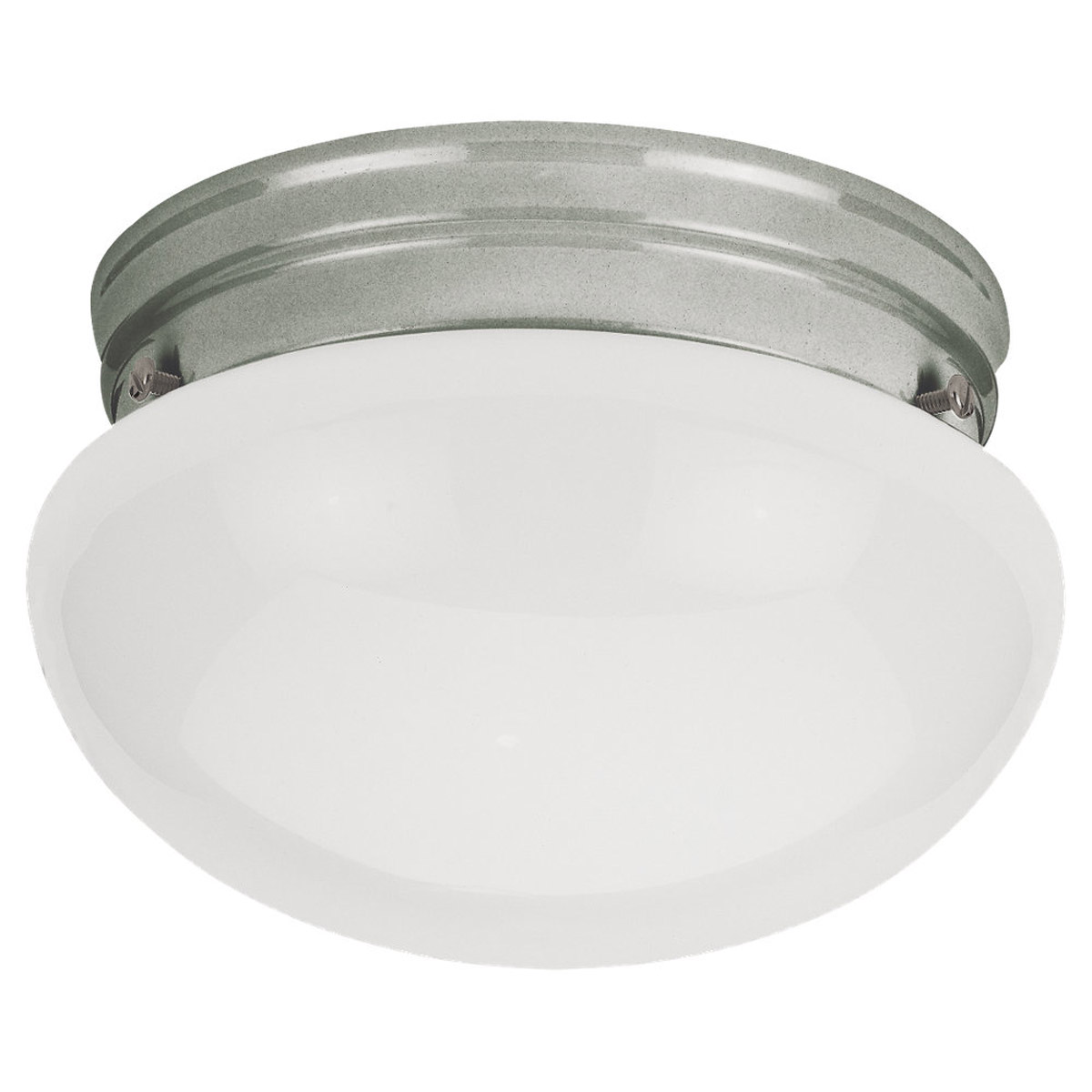 Sea Gull Lighting Webster 1 Light Flush Mount in Brushed Nickel 5326-962