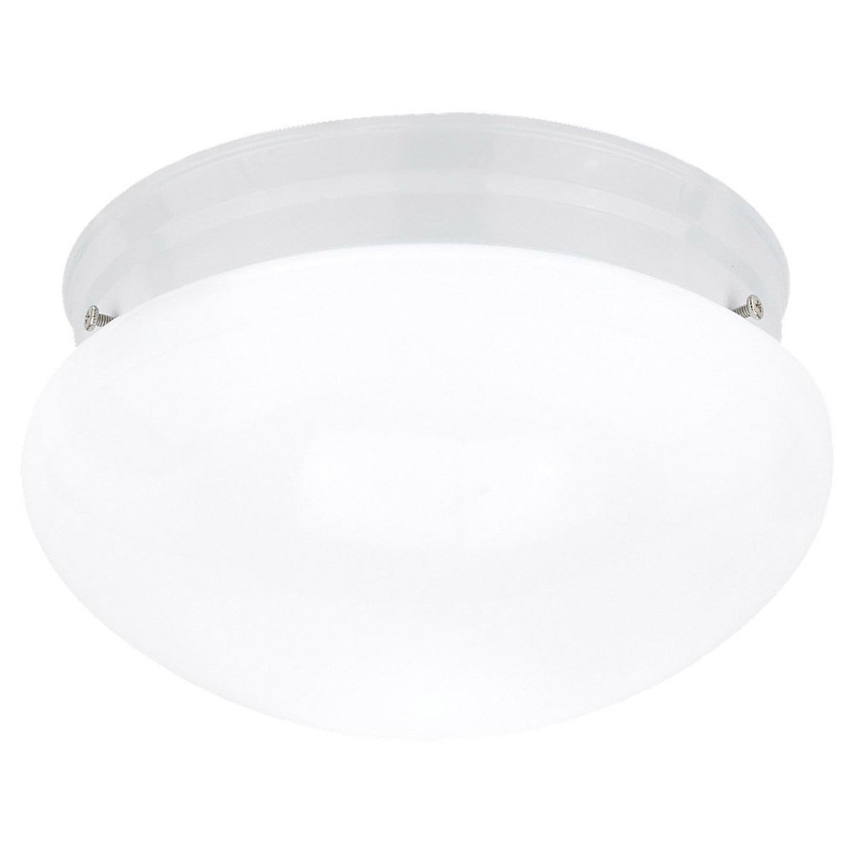 Sea Gull Lighting Webster 2 Light Flush Mount in White 5328-15