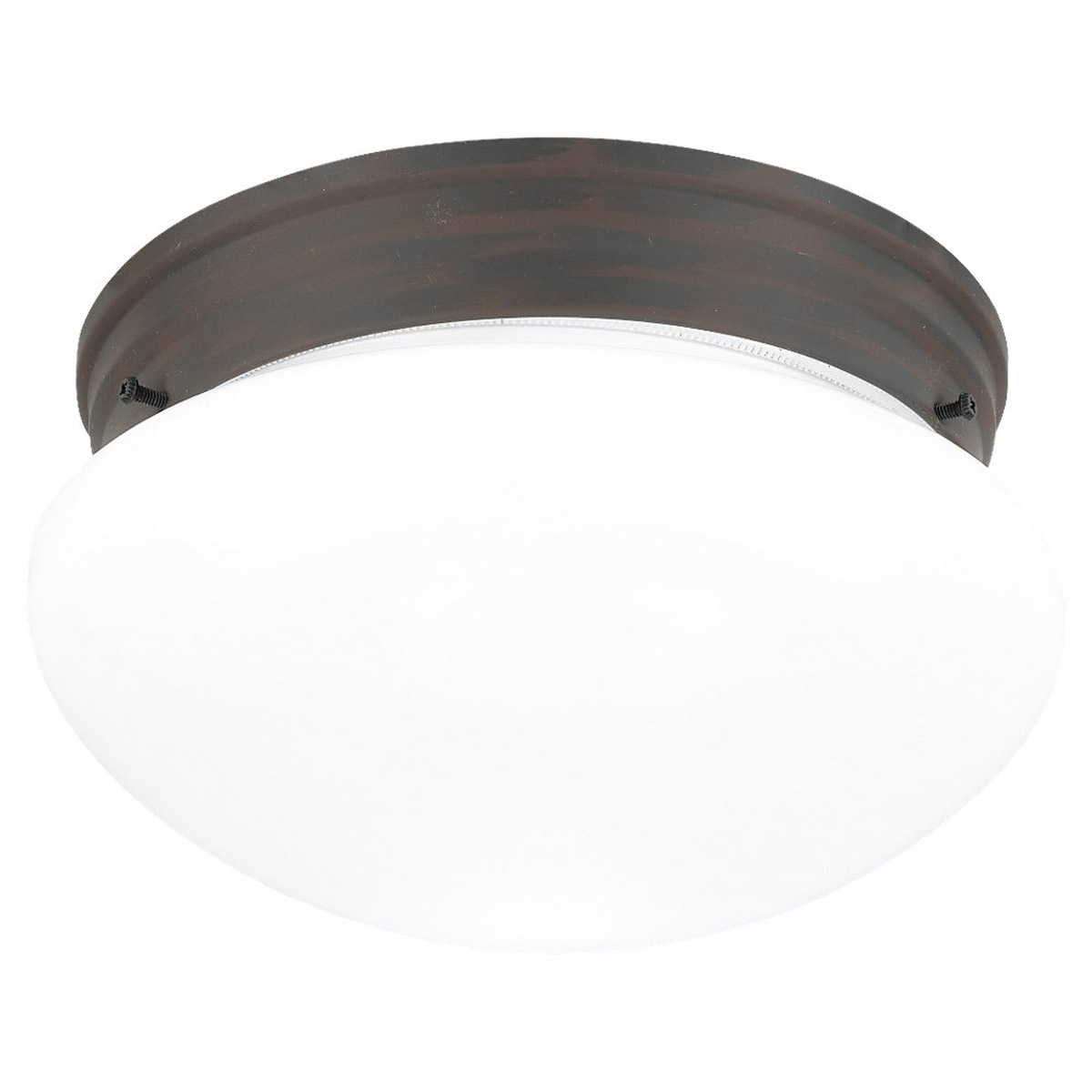 Sea Gull Lighting Webster 2 Light Flush Mount in Olde Iron 5328-72