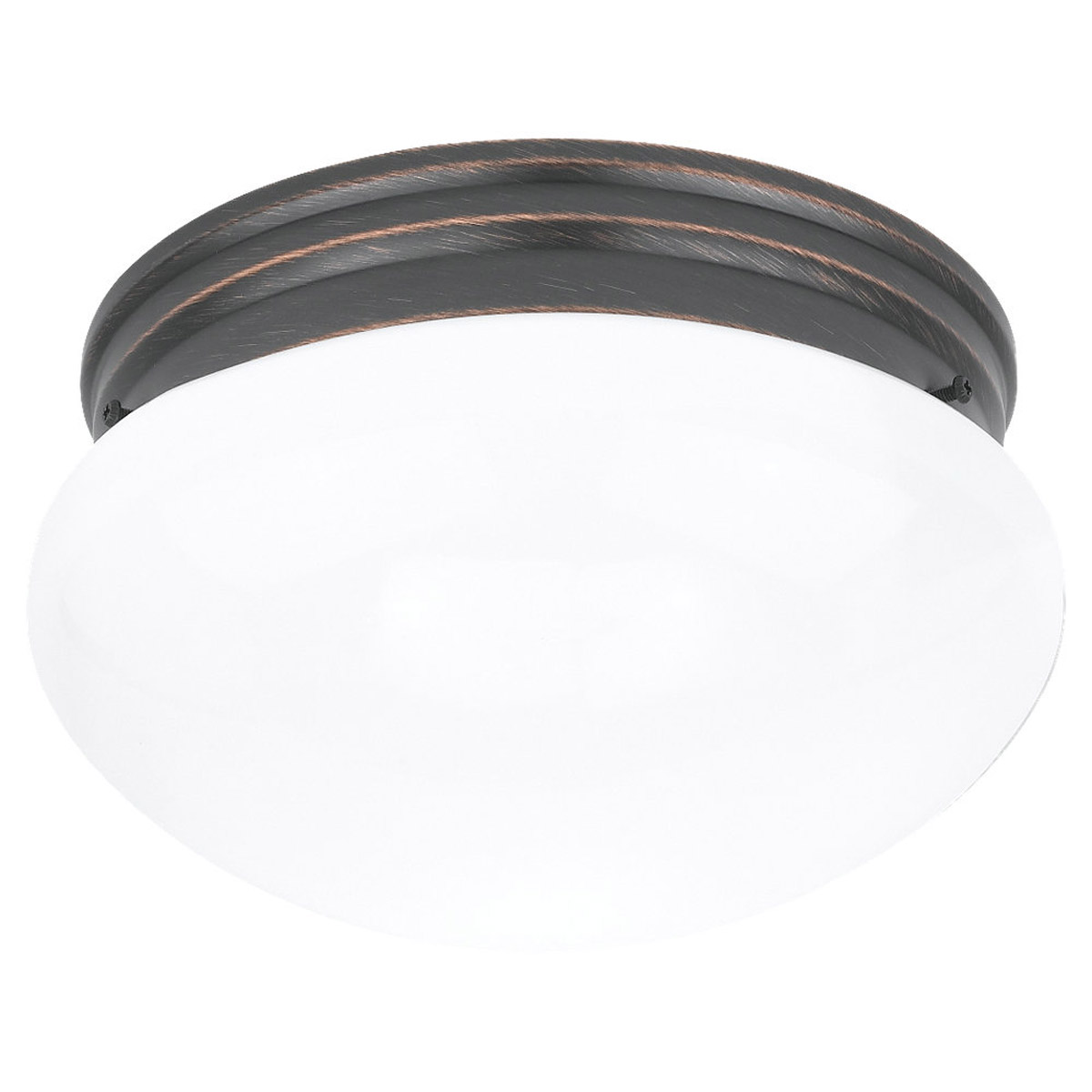 Sea Gull Lighting Webster 2 Light Flush Mount in Copper Revival 5328-777