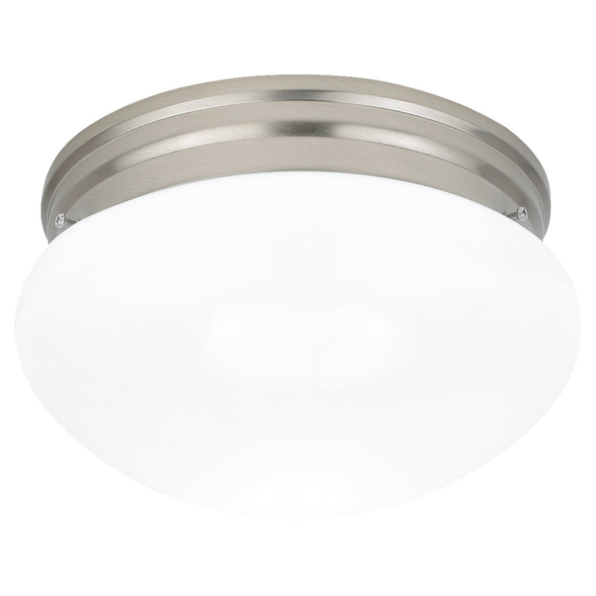Sea Gull Lighting Webster 2 Light Flush Mount in Brushed Nickel 5328-962