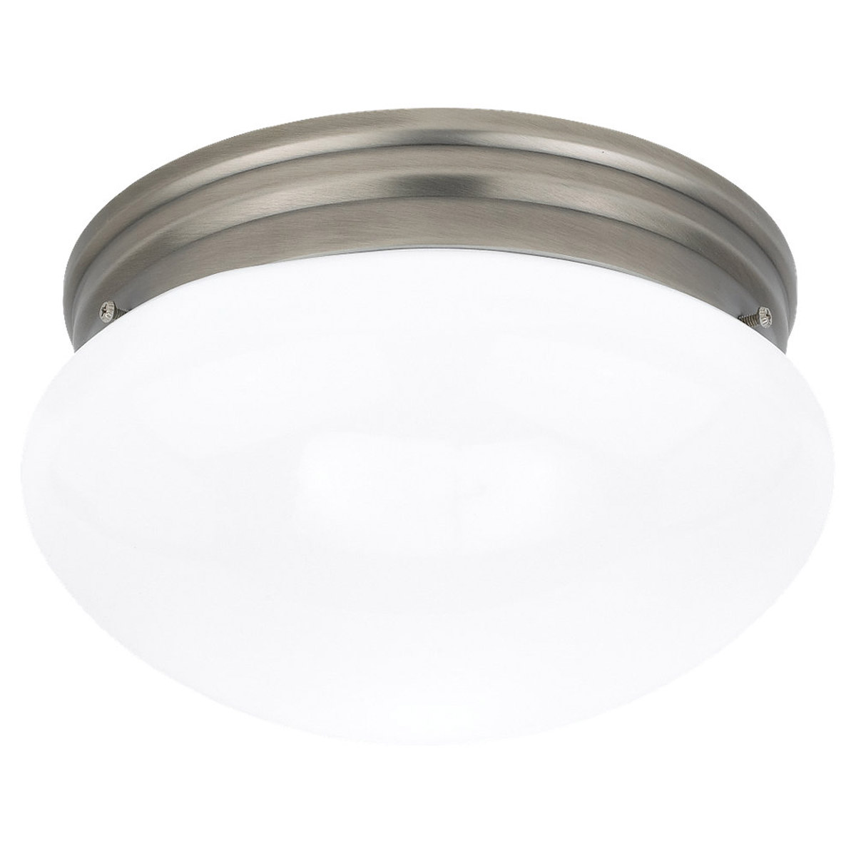 Sea Gull Lighting Webster 2 Light Flush Mount in Antique Brushed Nickel 5328-965