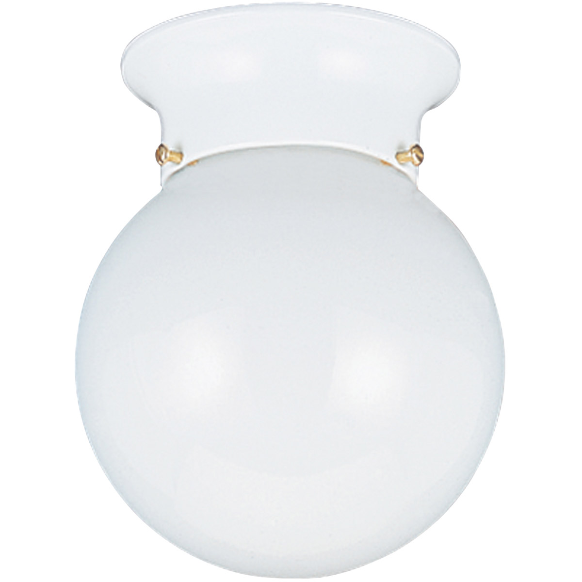 Sea Gull 5366-15 Tomkin 1 Light 6 inch White Flush Mount Ceiling Light photo